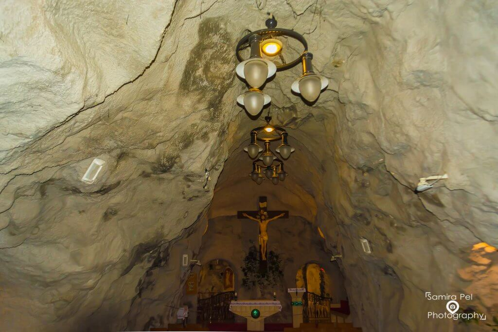 Altar cave church in Budapest