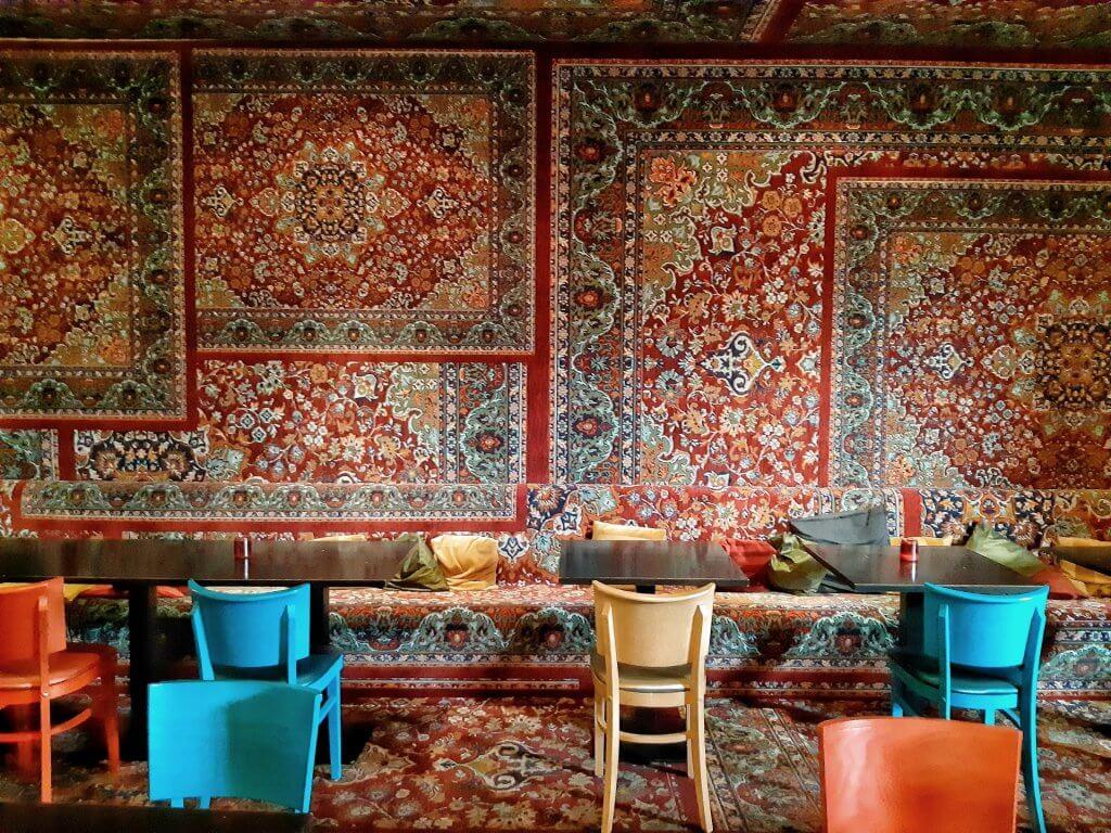 Restaurant op de bovenverdieping in de Jopenkerk in Haarlem