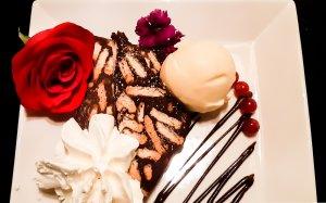Dessert bij restaurant Bij hartje Zwolle