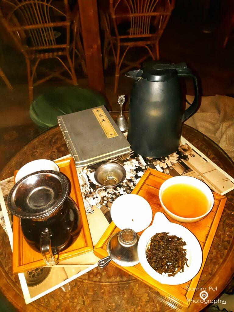 Drinking tea at 1000 Tea in Budapest
