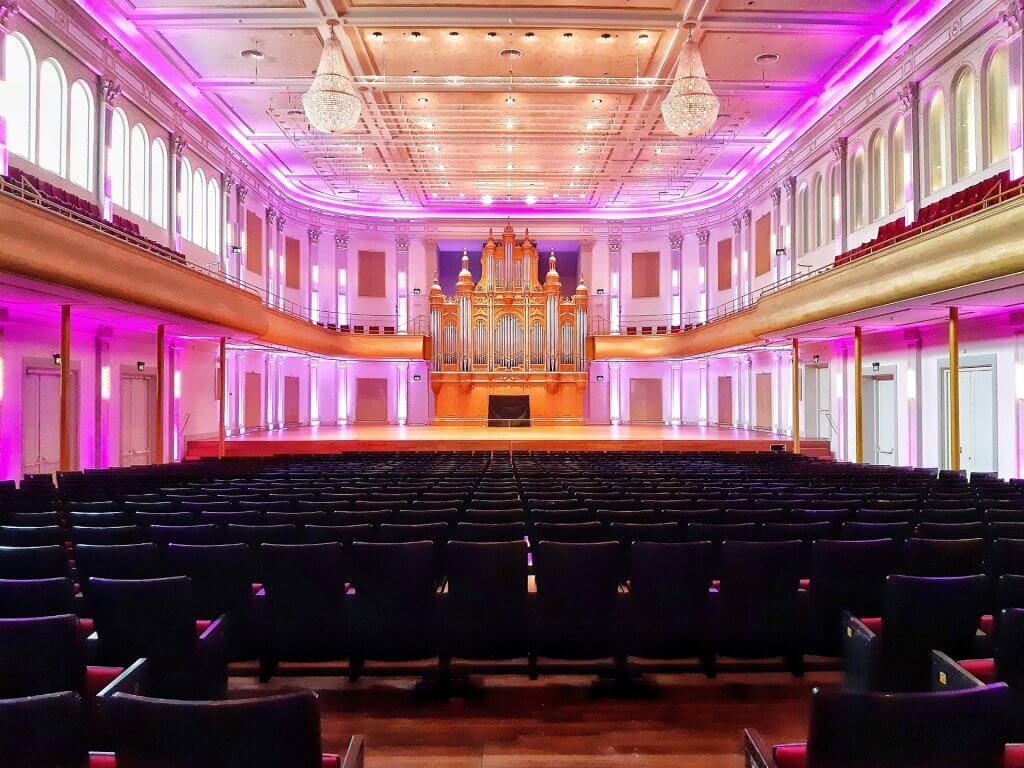 Grote Zaal in de Philharmonie Haarlem