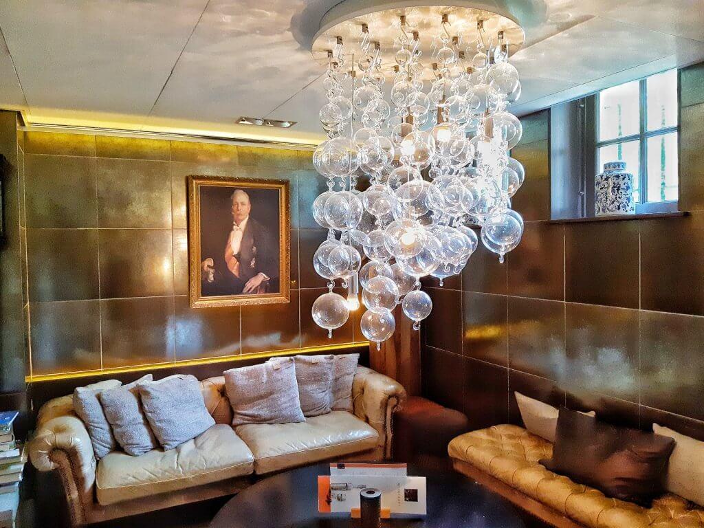 Lounge ruimte dhr. Cremer in Landgoed Duin & Kruidberg