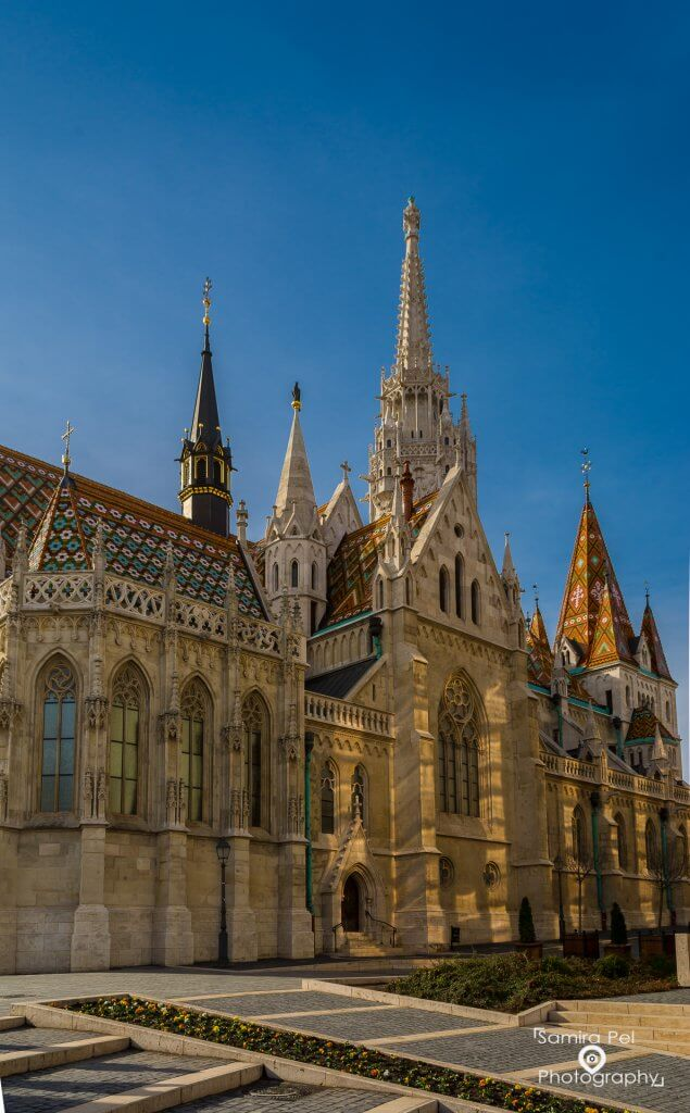 Matthias church in the Fisherman's Bastion in Budapest