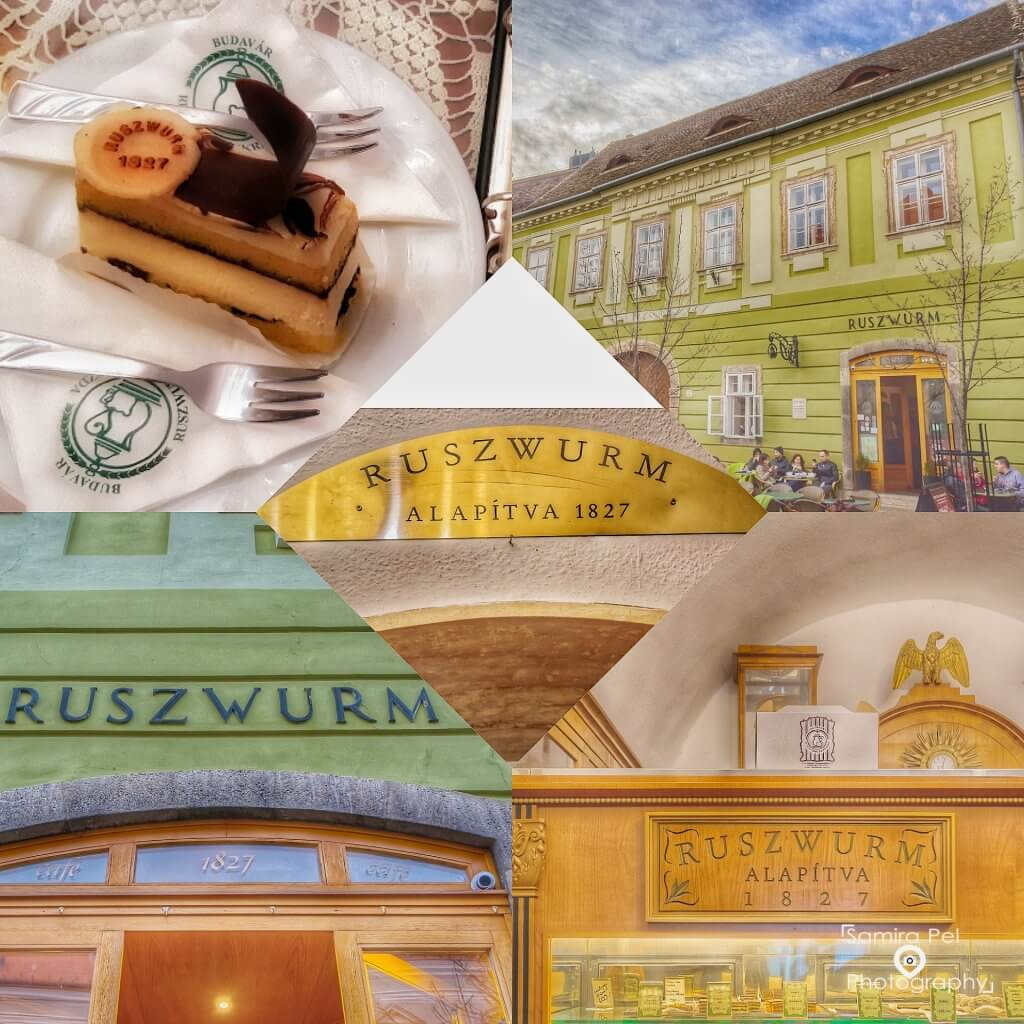 Delicious cakes at Pastry shop Ruszwurm in Budapest
