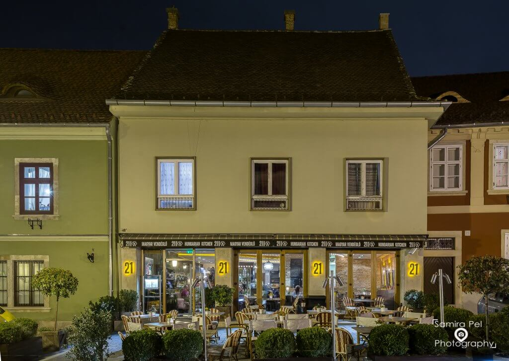 Front of Restaurant 21 Maygar Vendéglö in Budapest