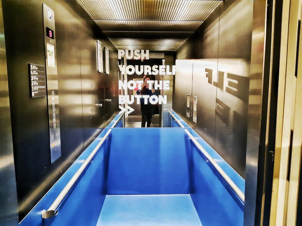 Lift quote in het HUP Hotel in Mierlo