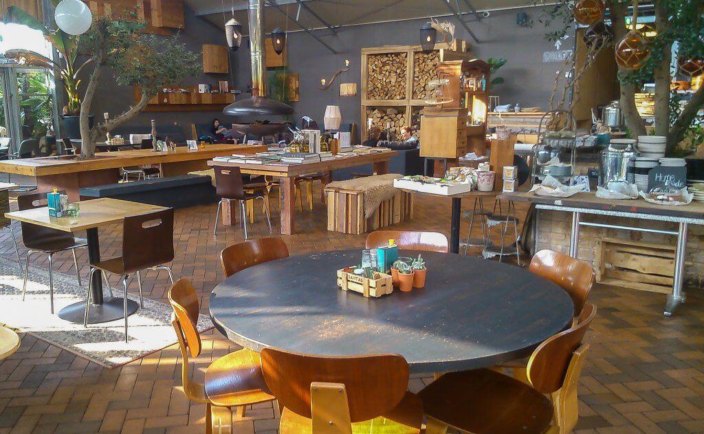 Restaurant in de kas van Buitenplaats Plantage Vogelenzang