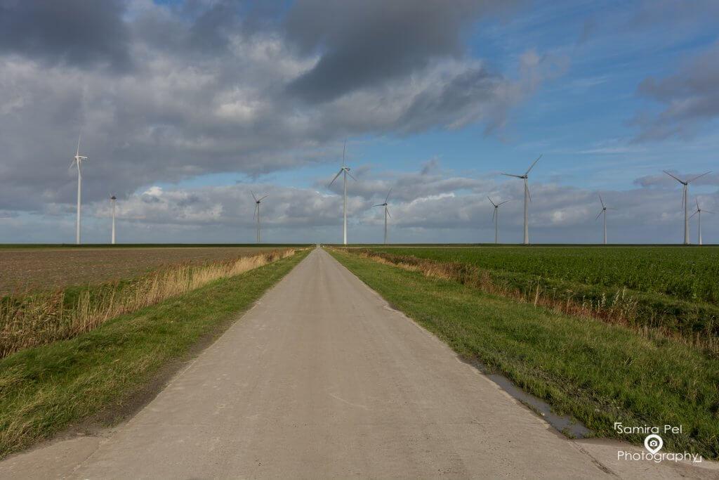 Road to the Zeedijk Waddenzee in Groningen
